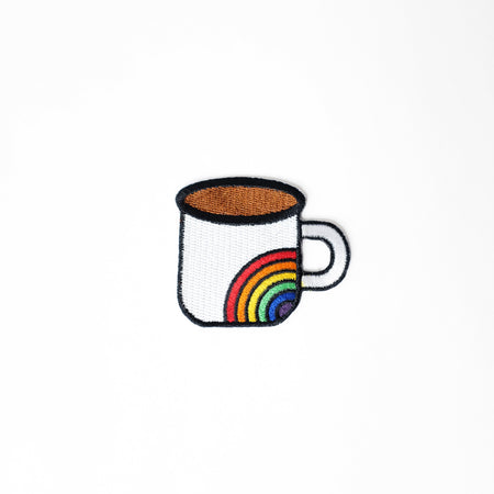 Cafecito Rainbow Mug Patch