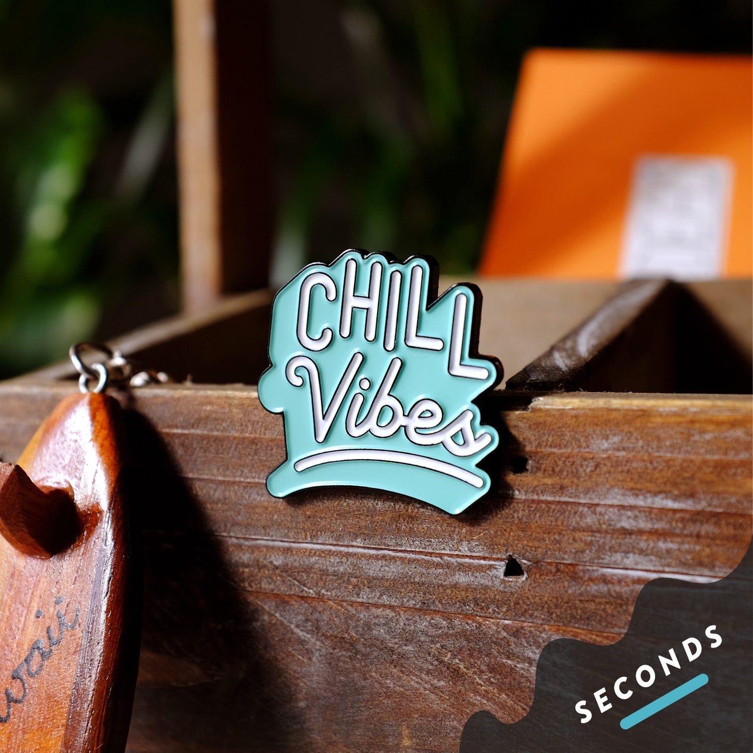 Seconds Sale - Chill Vibes Pin