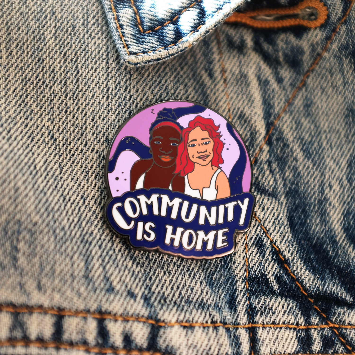 Community Is Home Pin