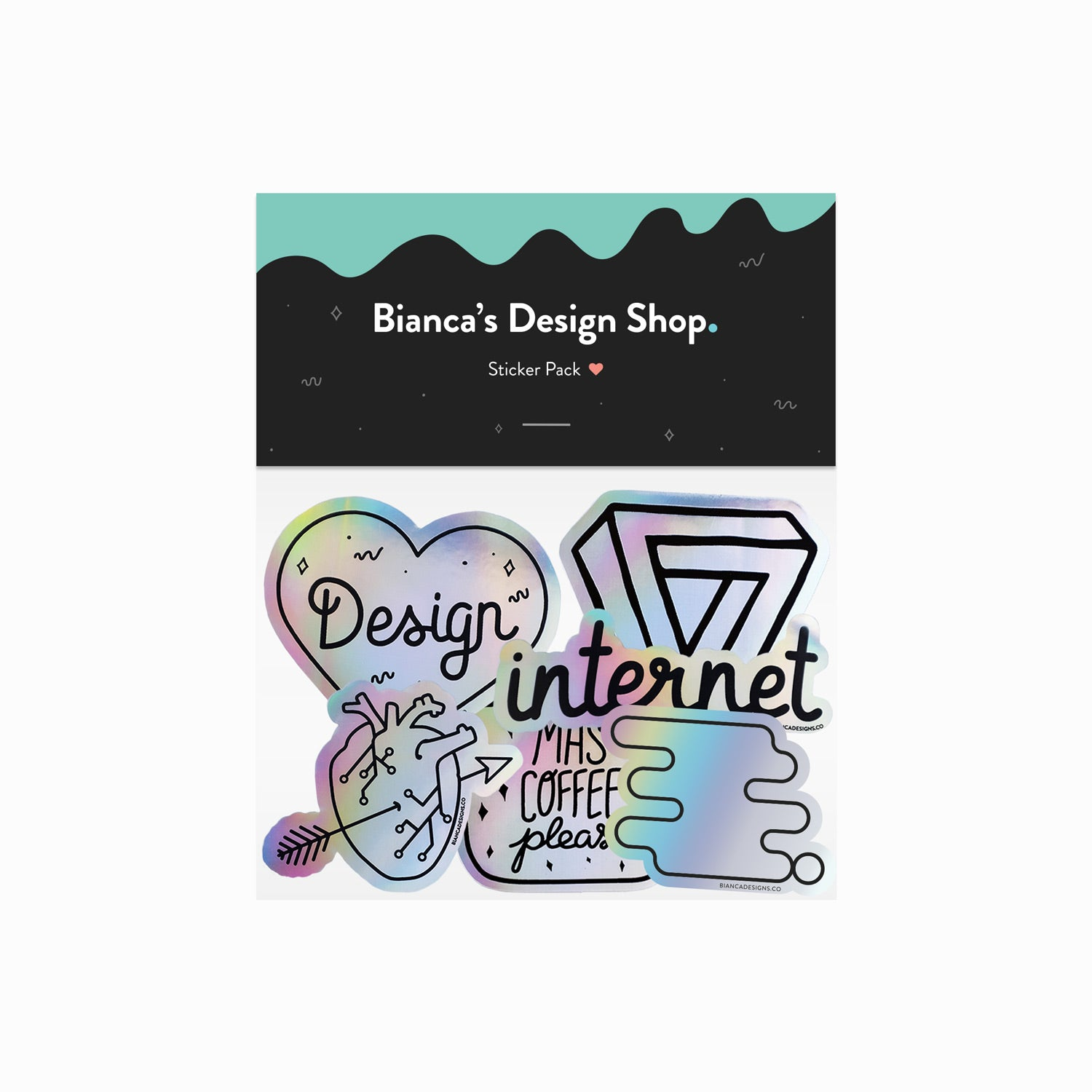 Designer Holographic Sticker Pack