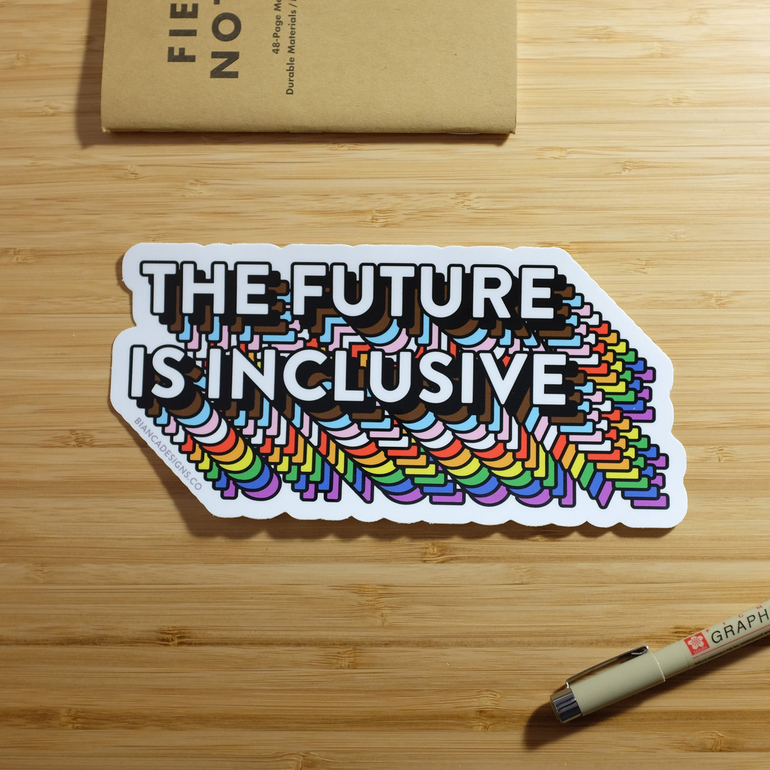 The Future Is Inclusive Bumper Sticker