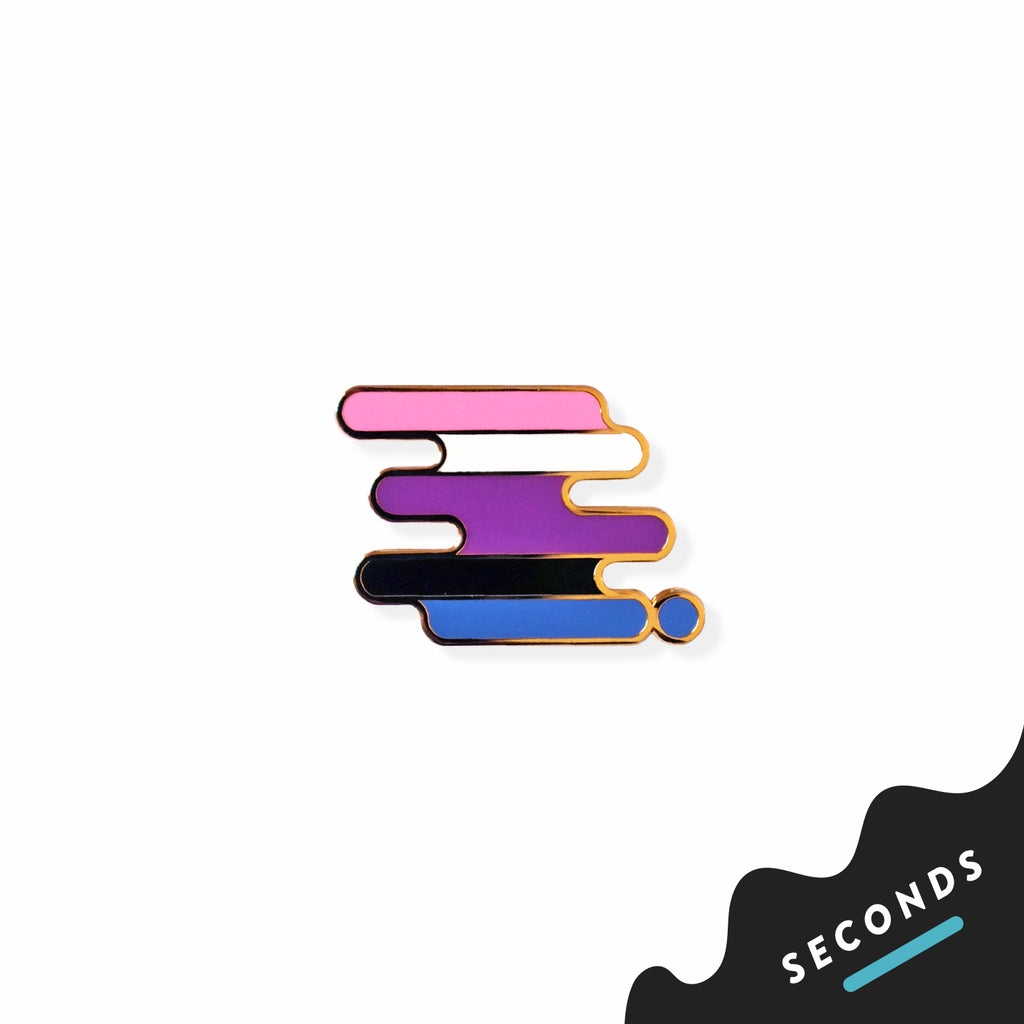 Seconds Sale - Gender-fluid Pride Pin