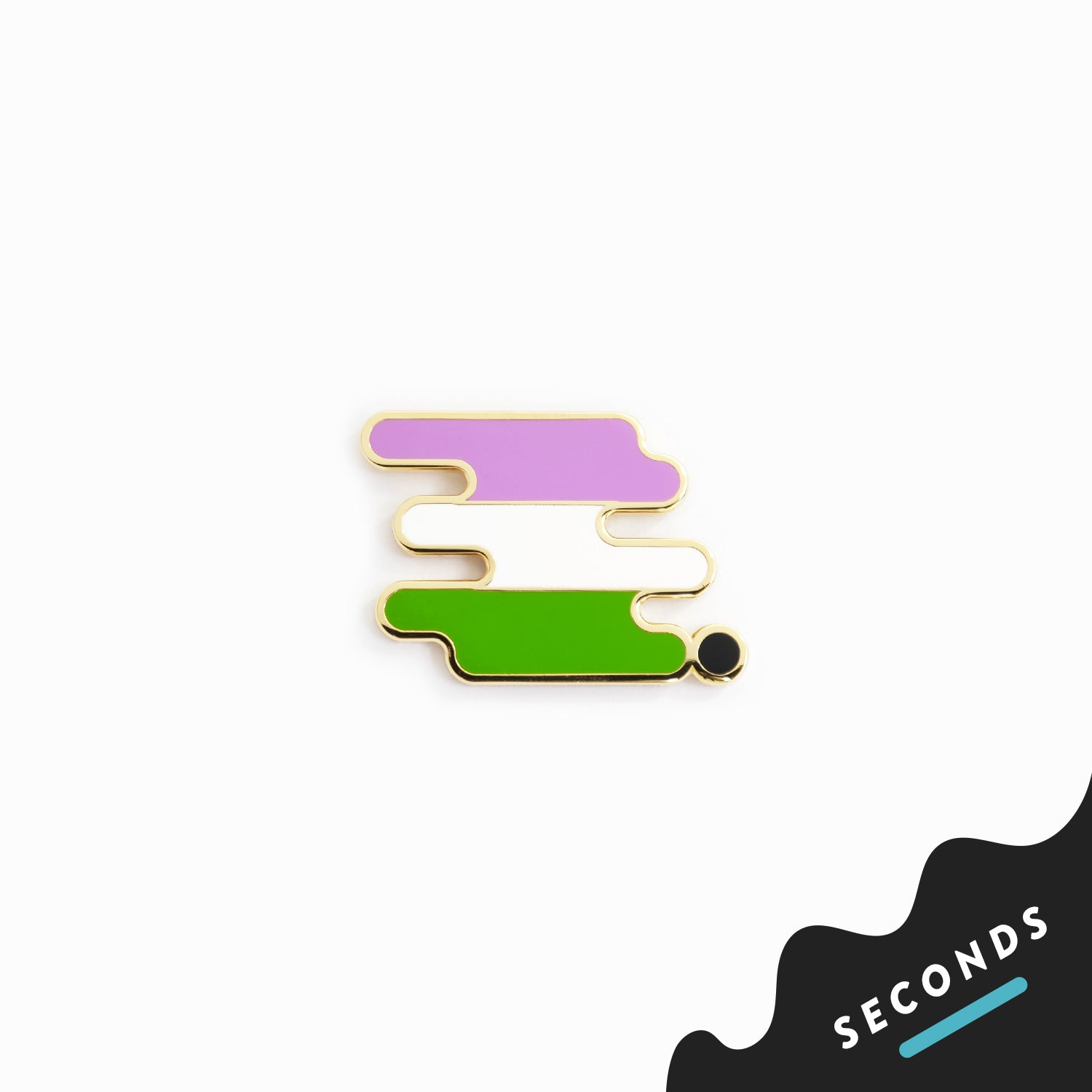Seconds Sale - Genderqueer Pride Pin