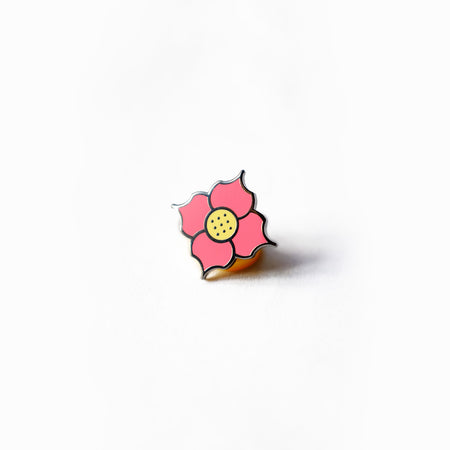 Tiny Geometric Flower Pin