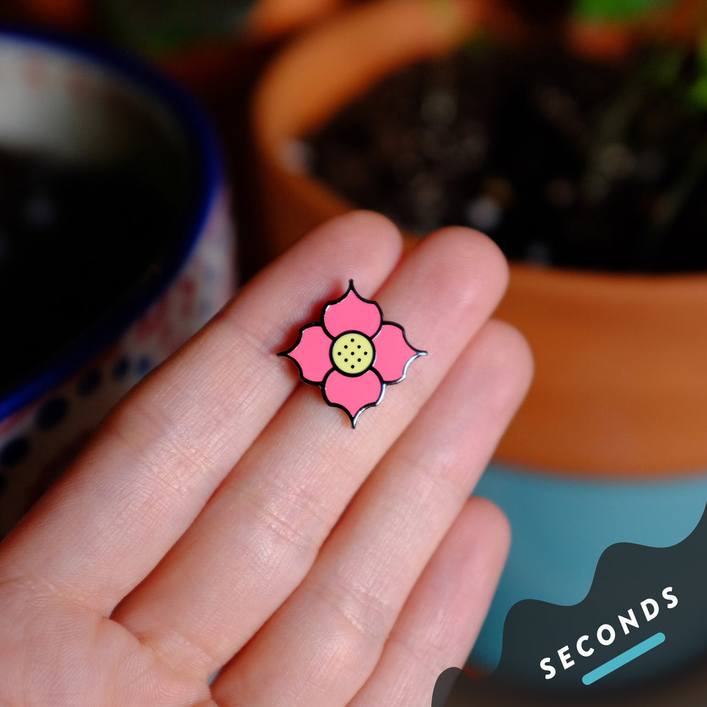 Seconds Sale - Tiny Geometric Flower Pin