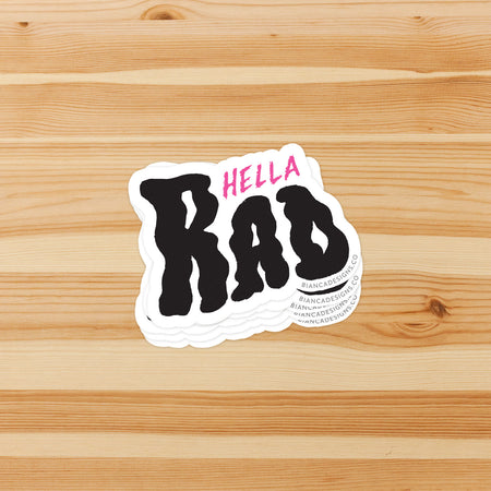 Hella Rad Sticker
