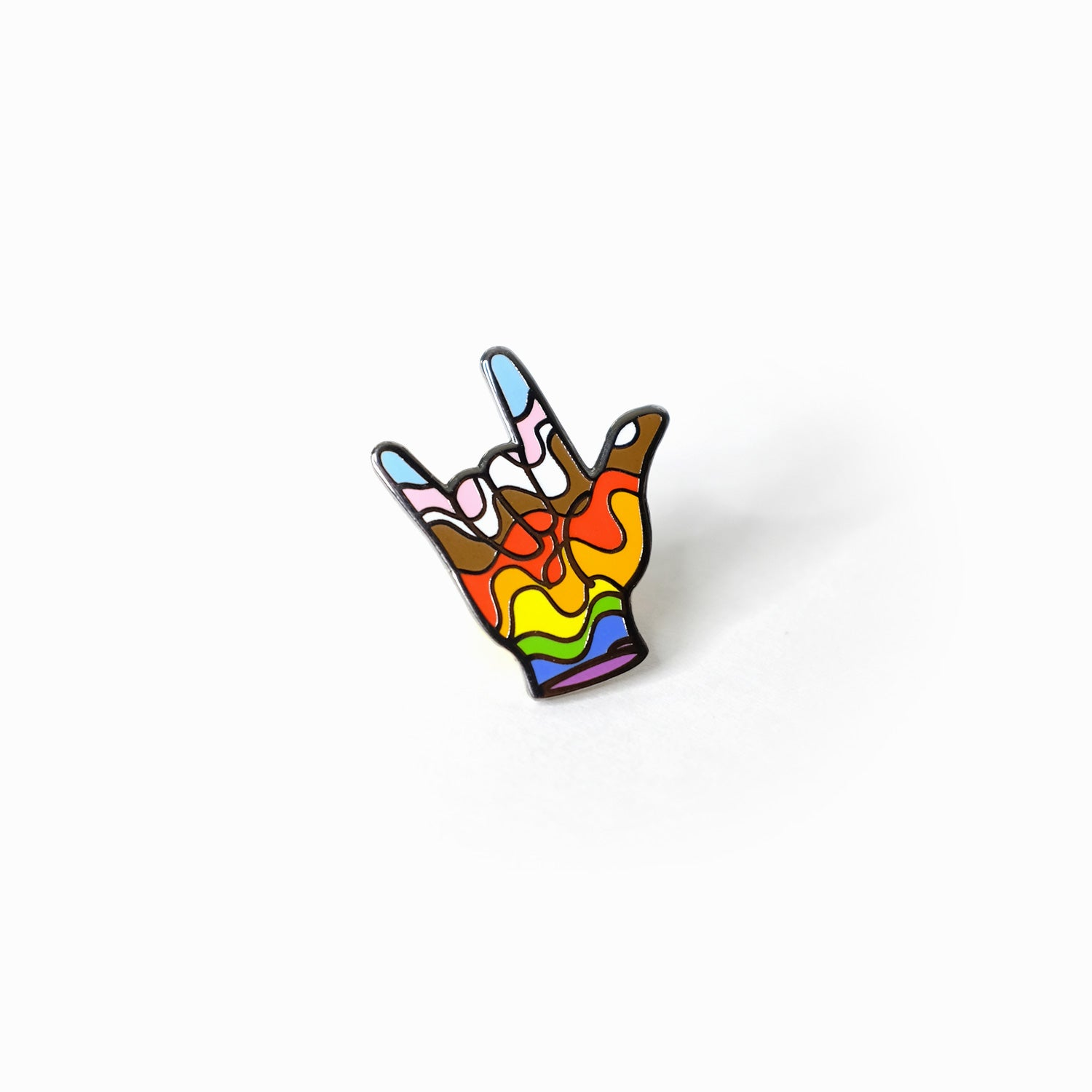 I Love You in ASL Pin