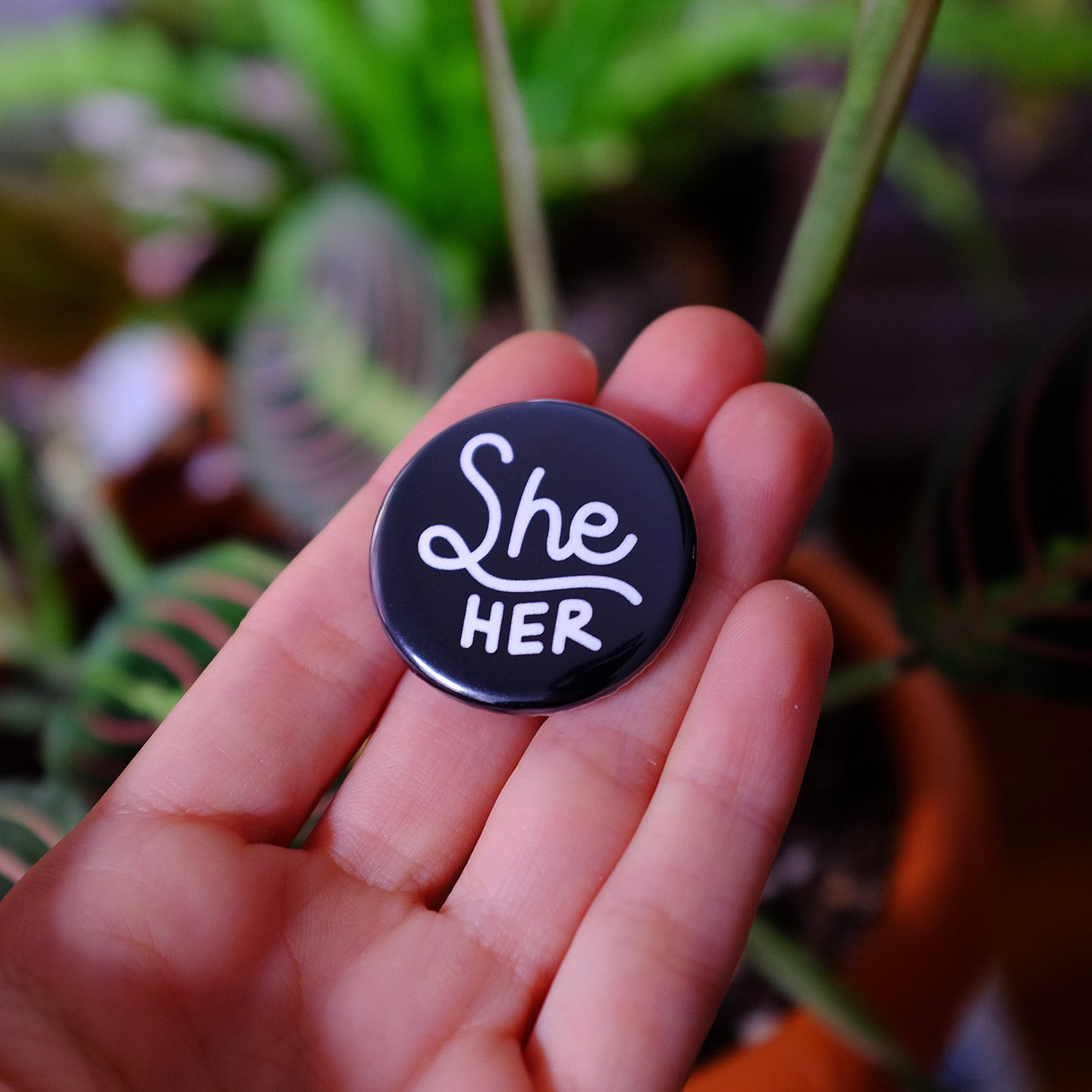 She/her Pronouns Button