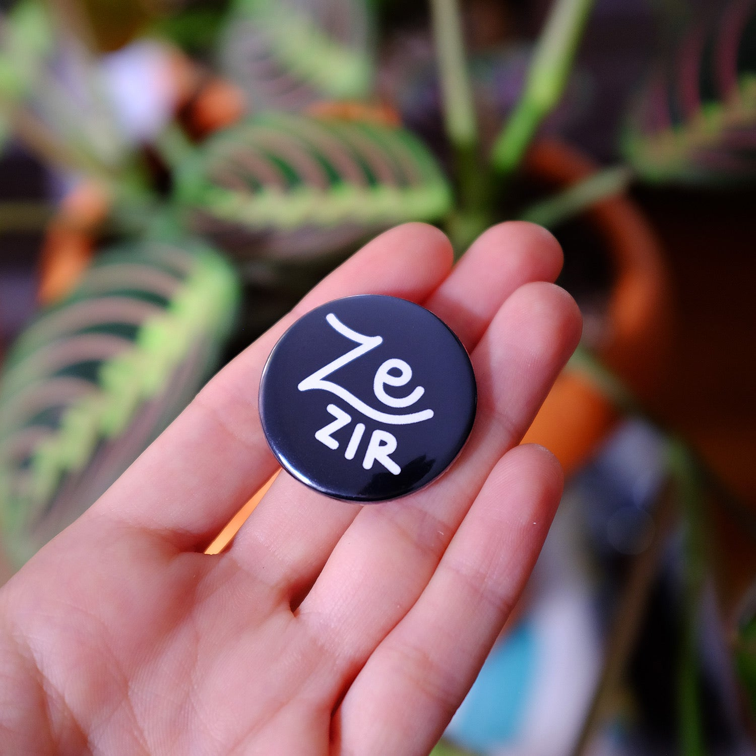 Ze/zir Pronouns Button