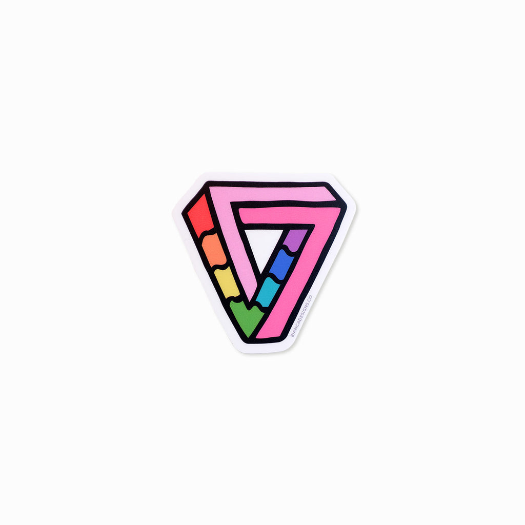 Impossibly Gay Triangle Sticker
