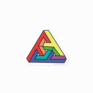 Impossibly Queer Triangle Sticker