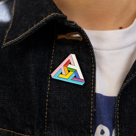 Impossibly Trans Triangle Pin