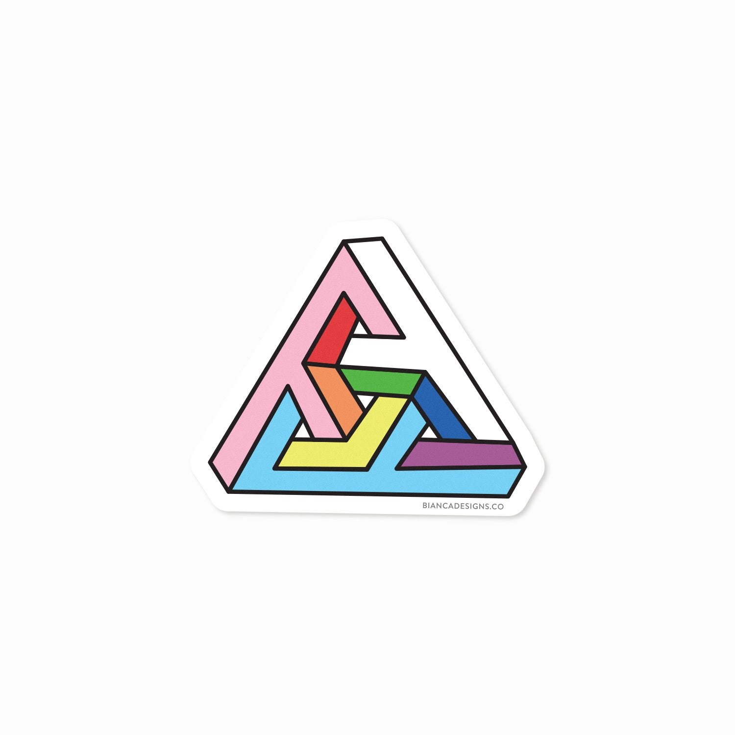 Impossibly Trans Triangle Sticker