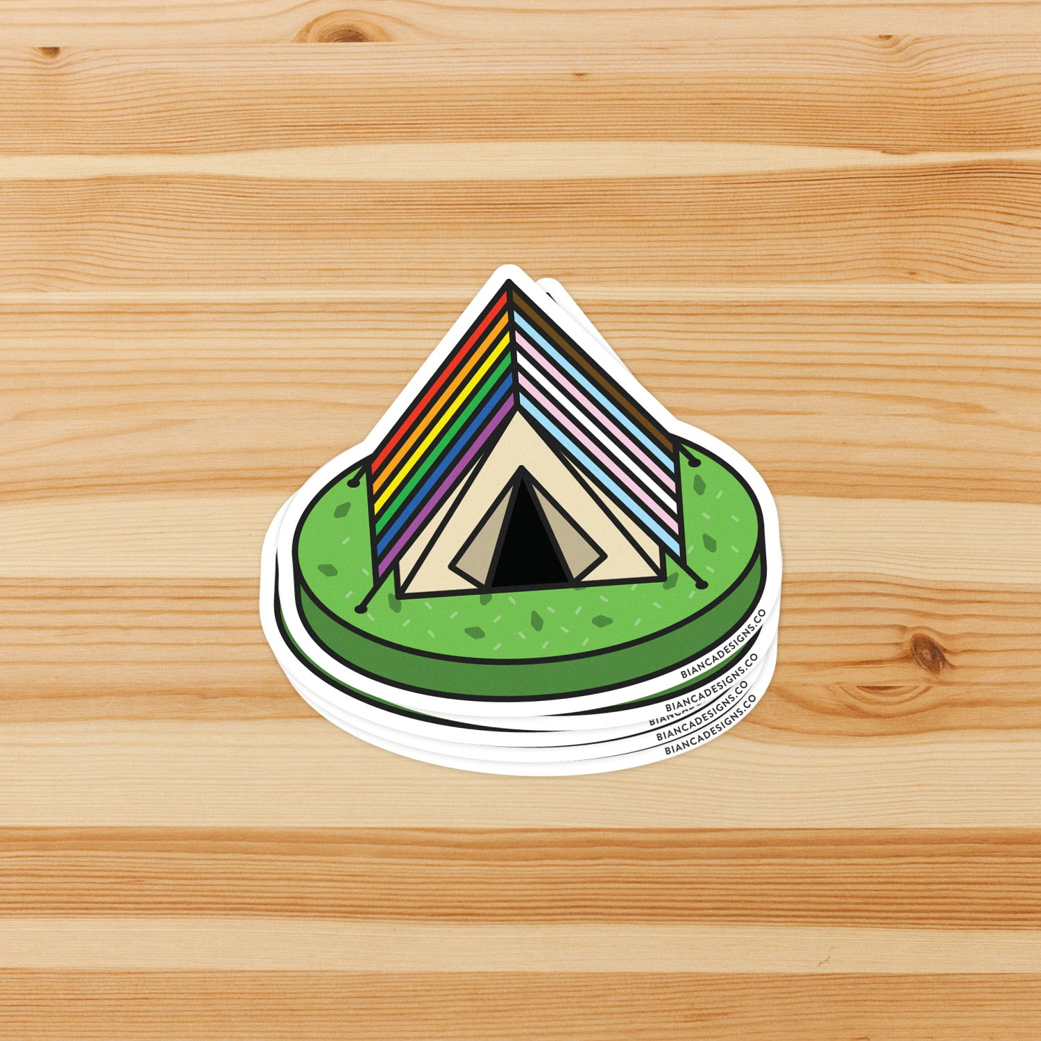 Inclusive Campy Tent Sticker