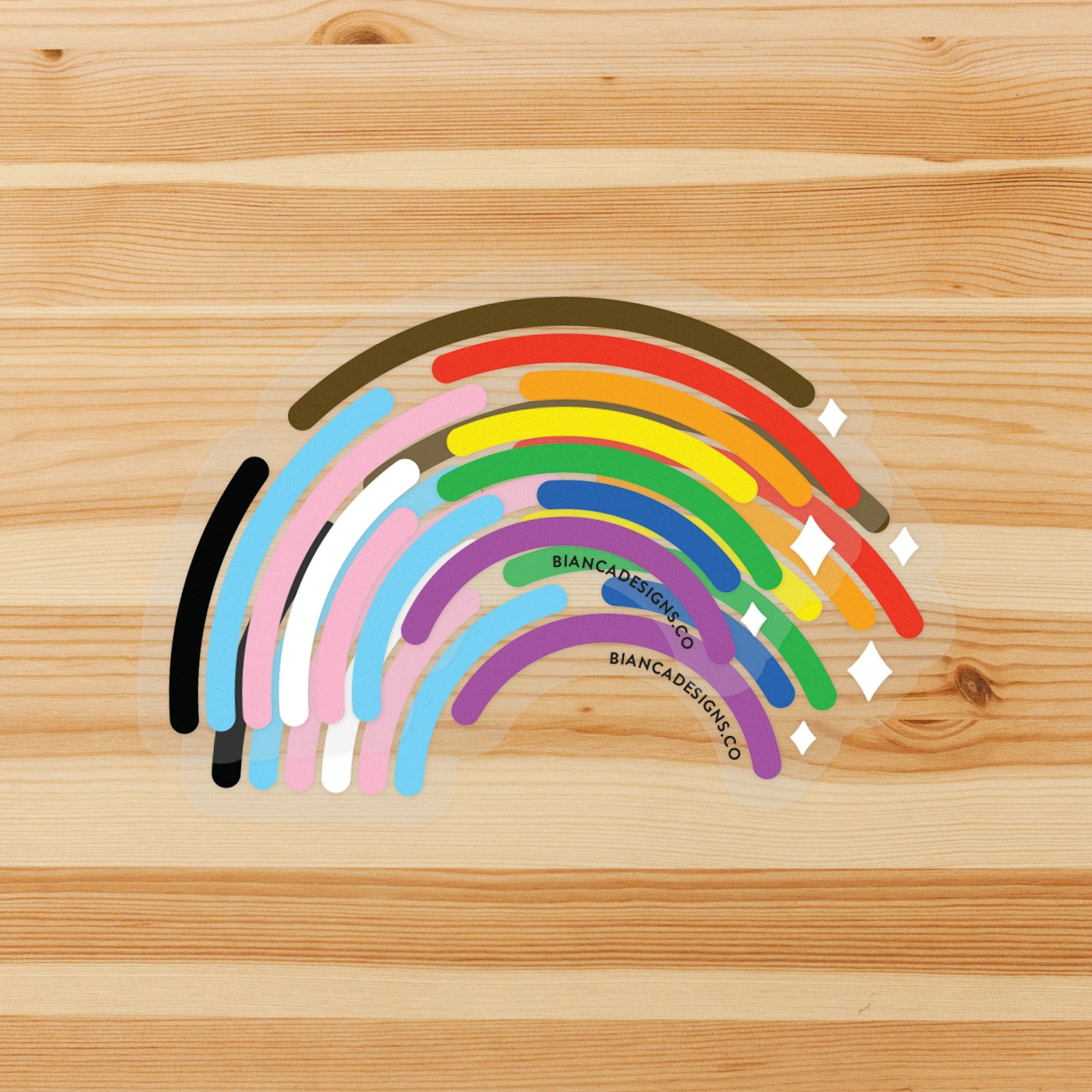 Inclusive Rainbow Large Sticker