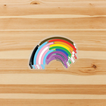 Inclusive Rainbow Sticker (Clear)