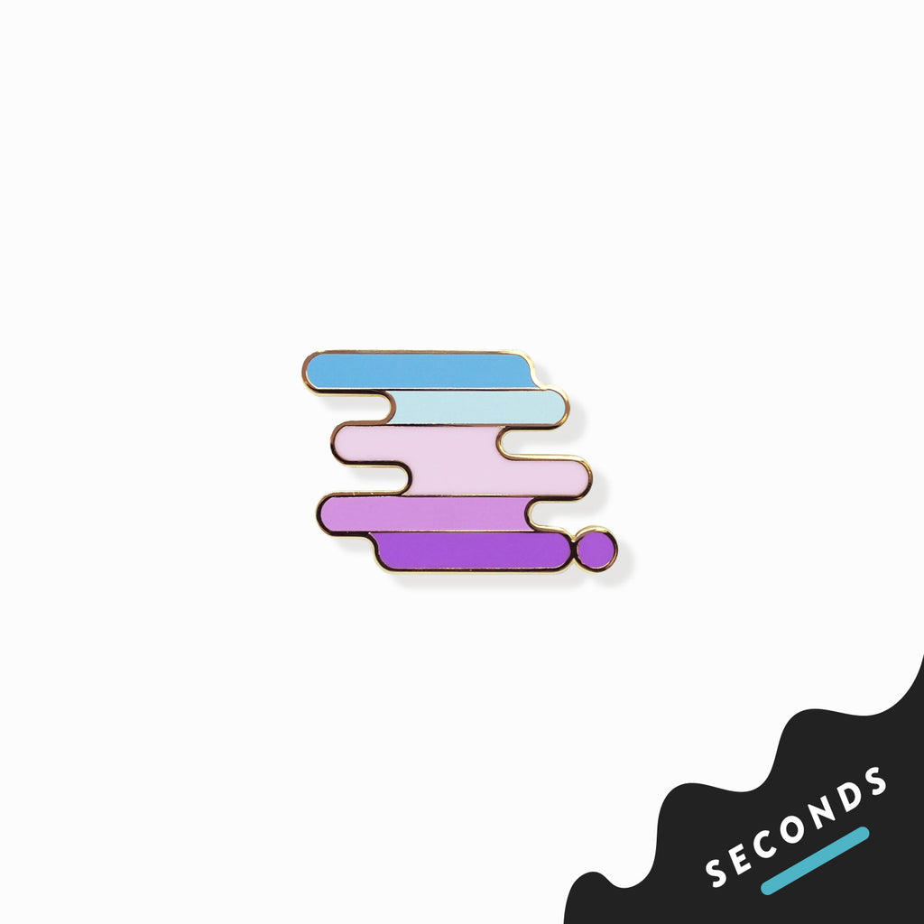 Seconds Sale - New Lesbian Pride Pin