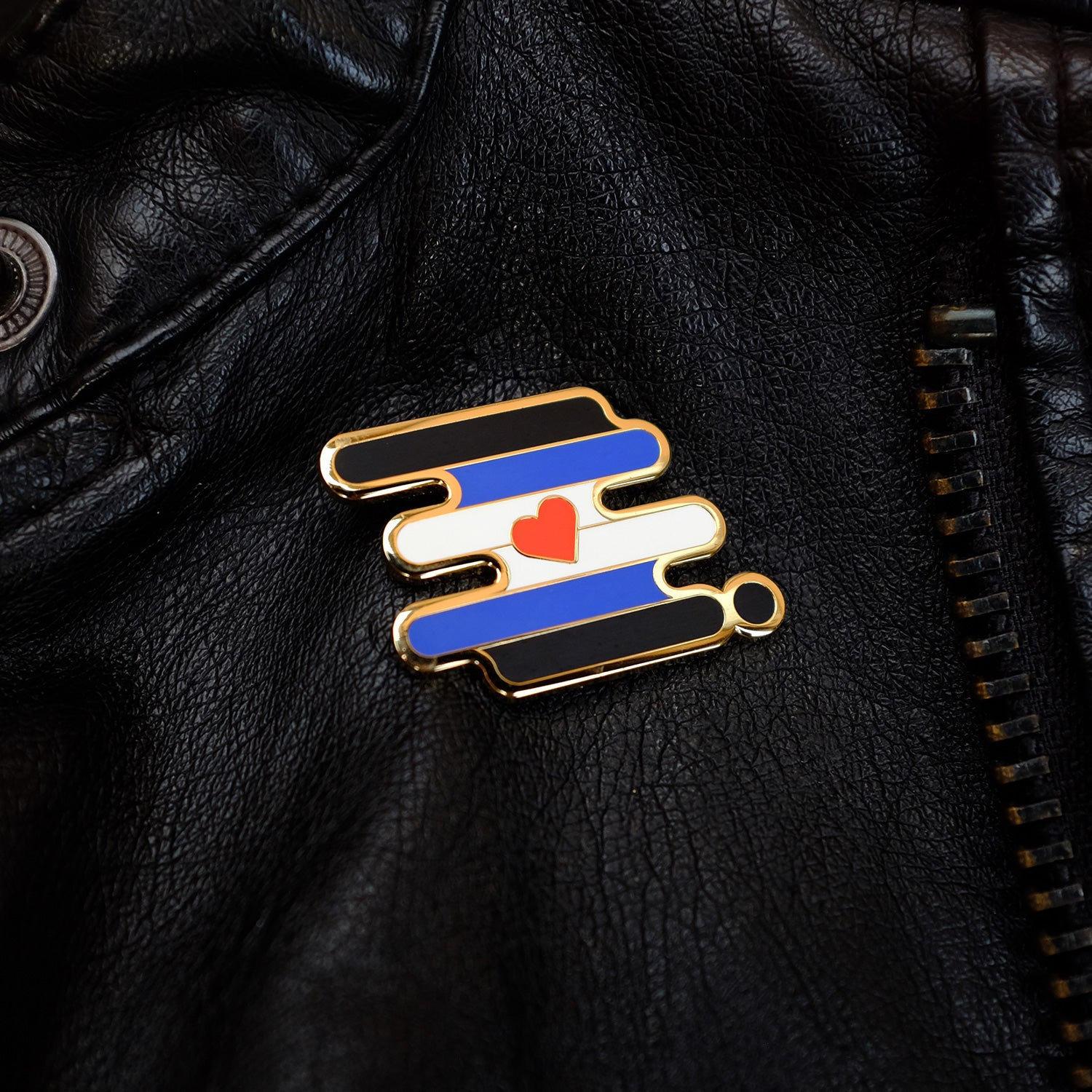 Leather Pride Pin