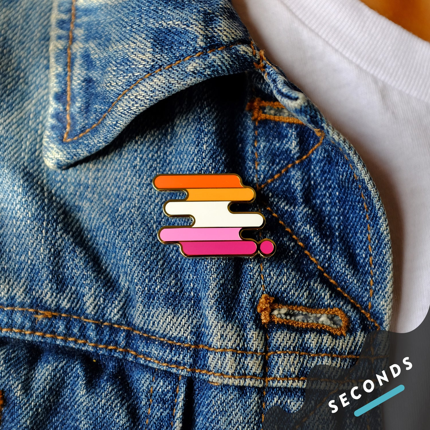 Seconds Sale - Community Lesbian Pride Pin