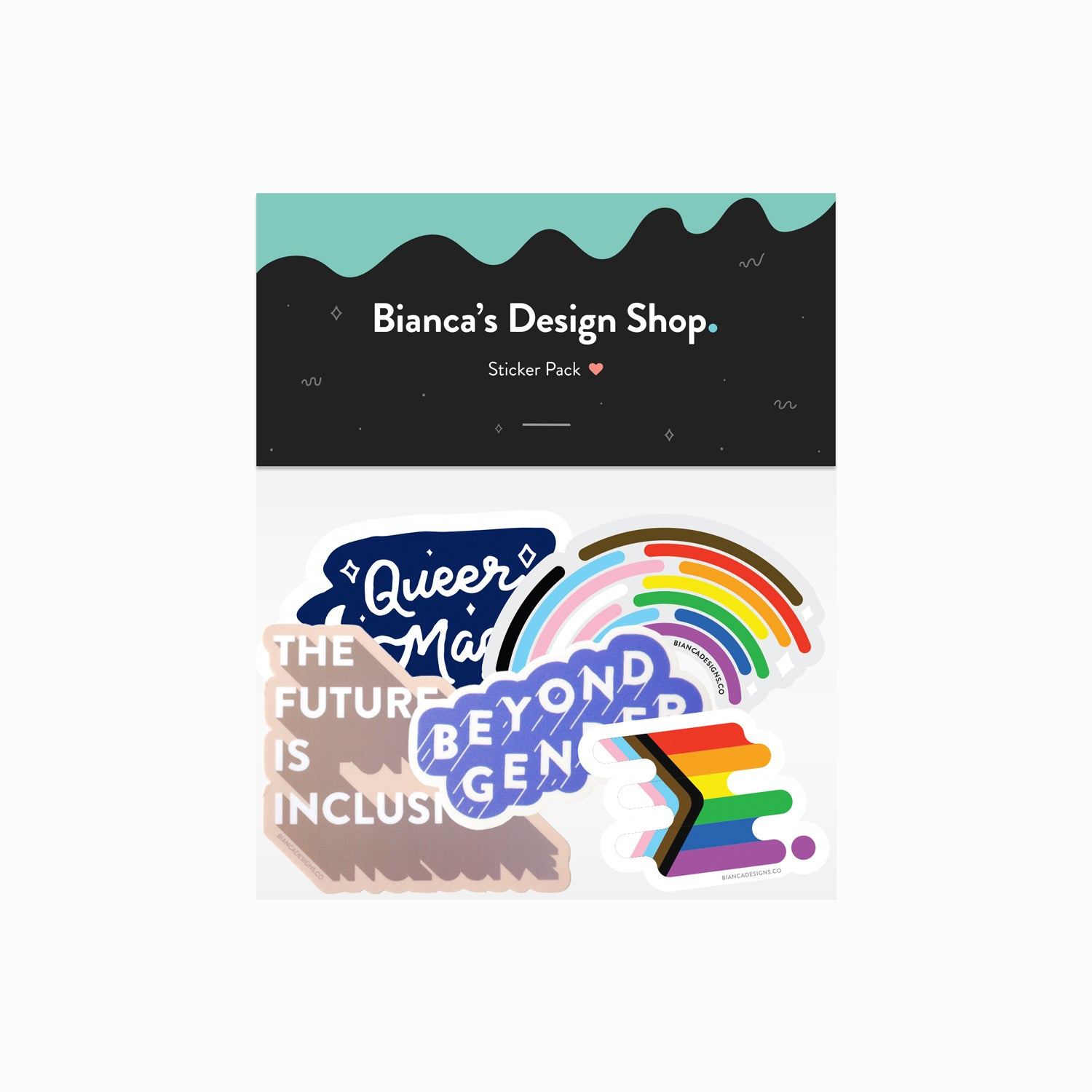 LGBTQ+ Pride Sticker Pack of 5