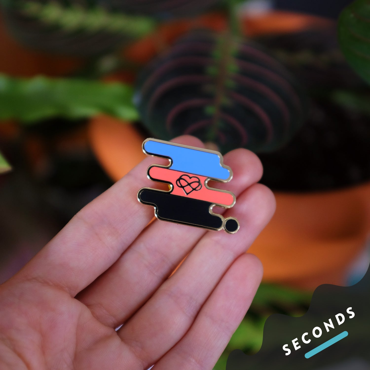 Seconds Sale - Polyamory Pride Pin