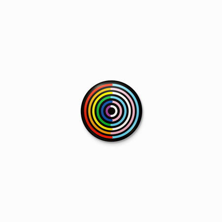 Double Rainbow Pride Circle Button