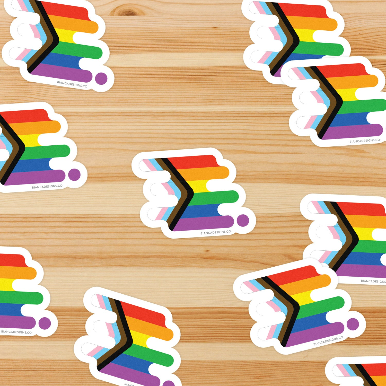 Progress Pride by Quasar Sticker
