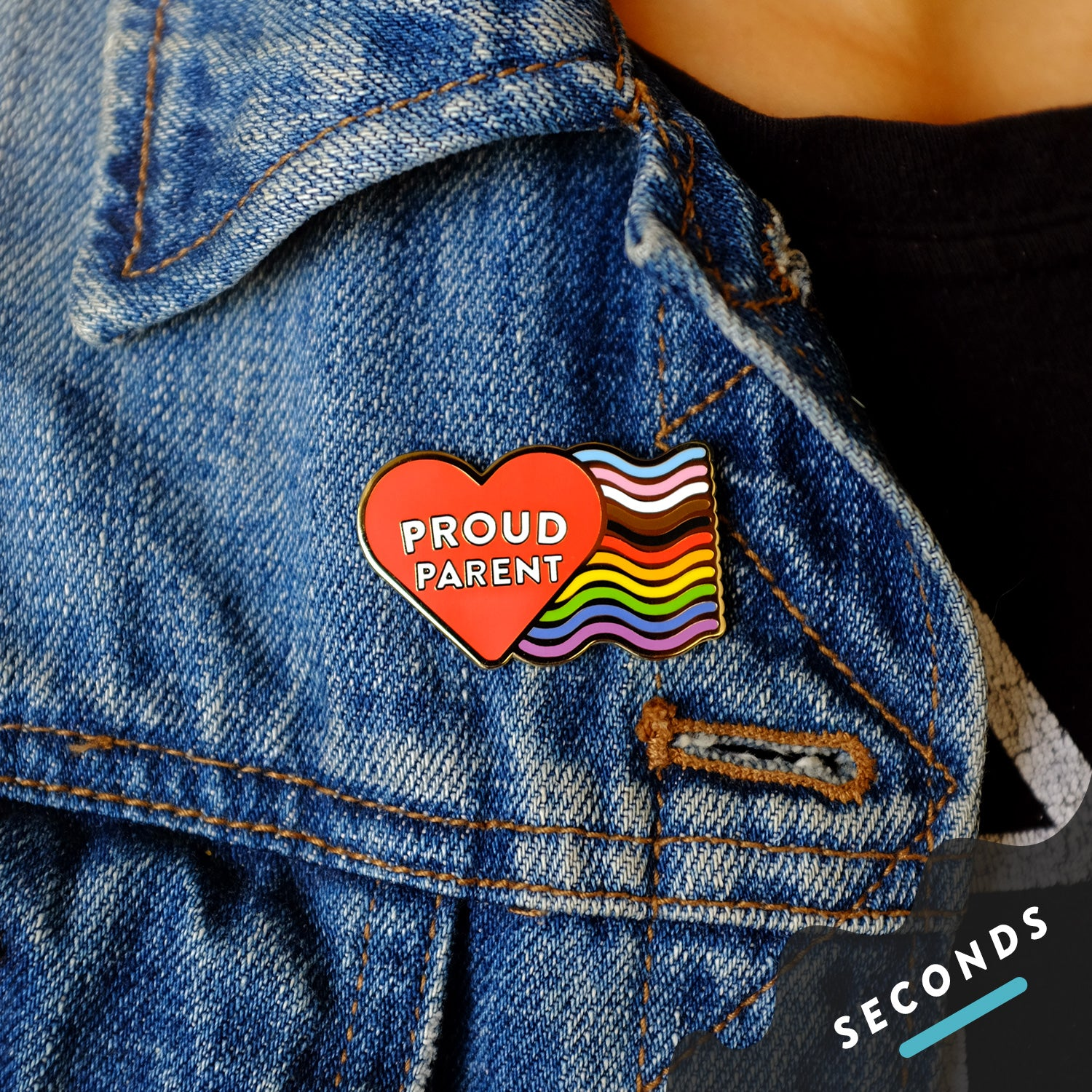 Seconds Sale - Proud Parent Pin