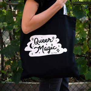 Queer Magic Black Tote Bag