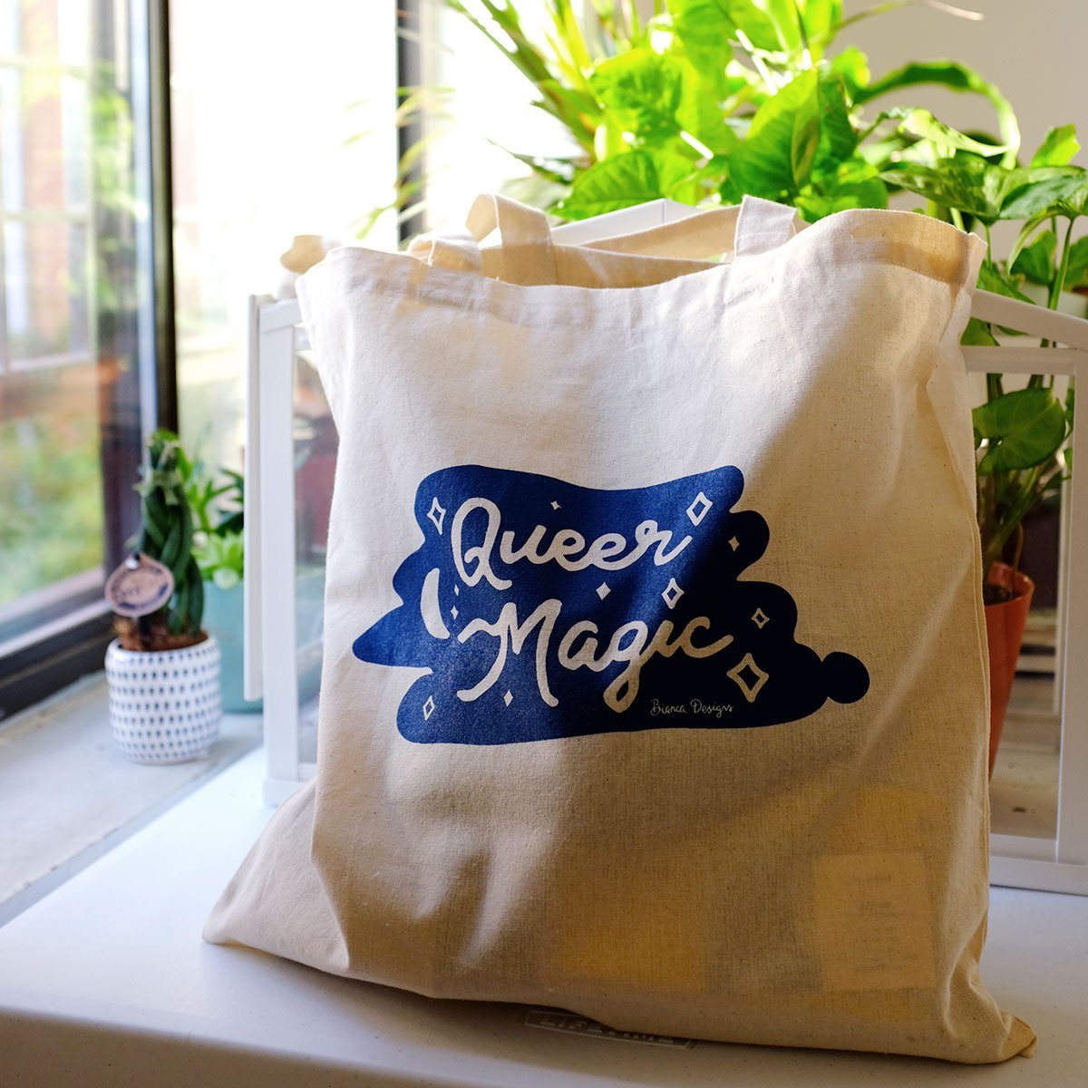 Queer Magic Natural Tote Bag