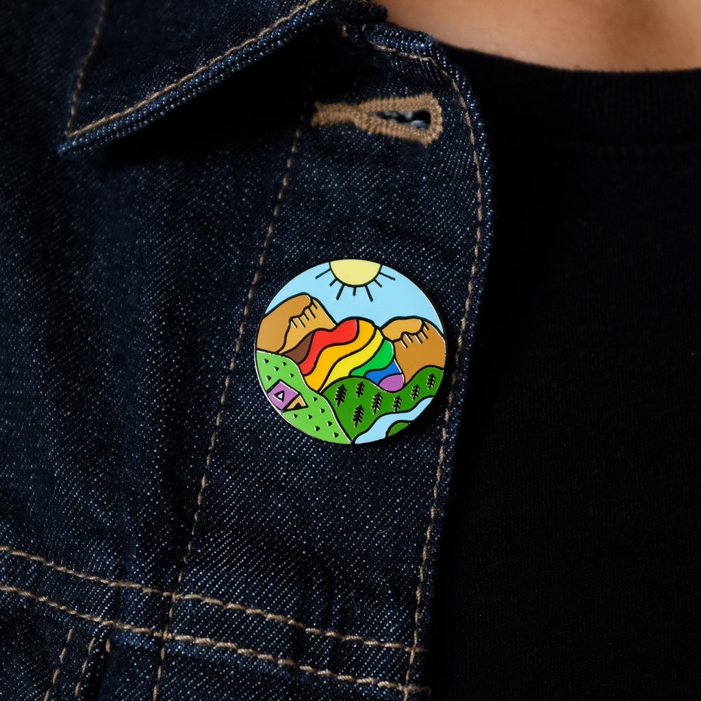 Queer Nature Rainbow Mountain Pin