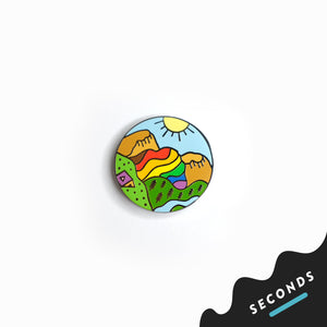 Seconds Sale - Queer Nature Rainbow Mountain Pin