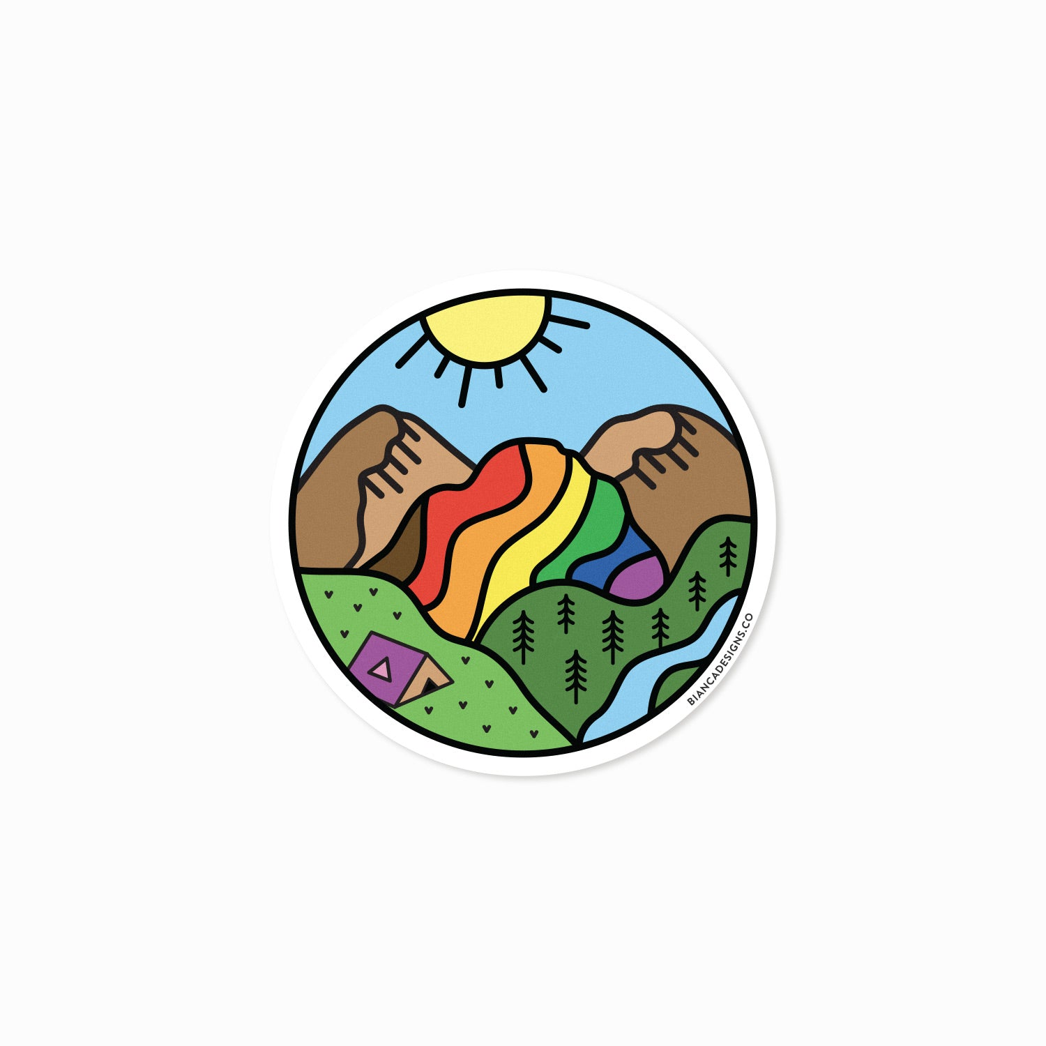 Queer Nature Rainbow Mountain Sticker