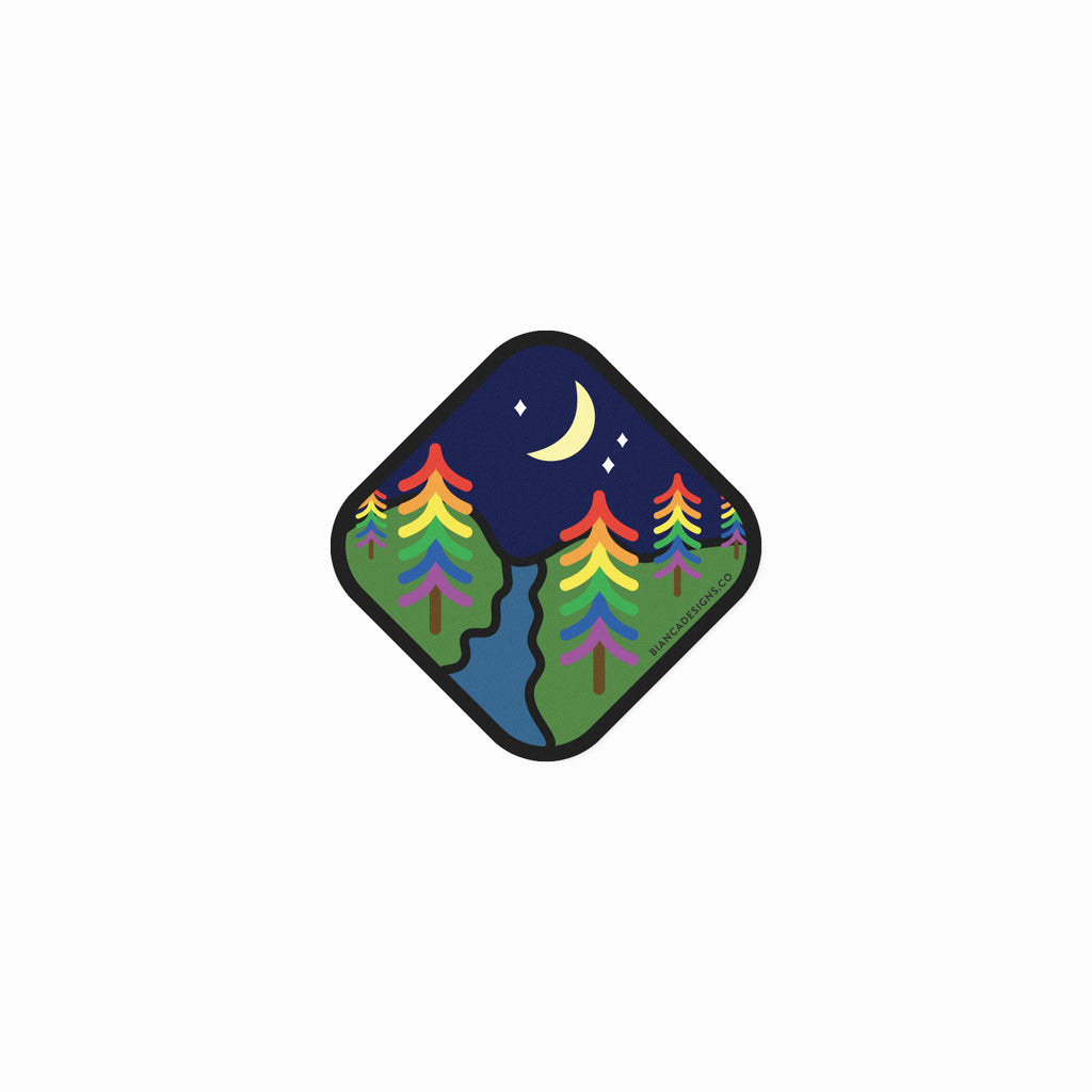 Rainbow Forest Magnet