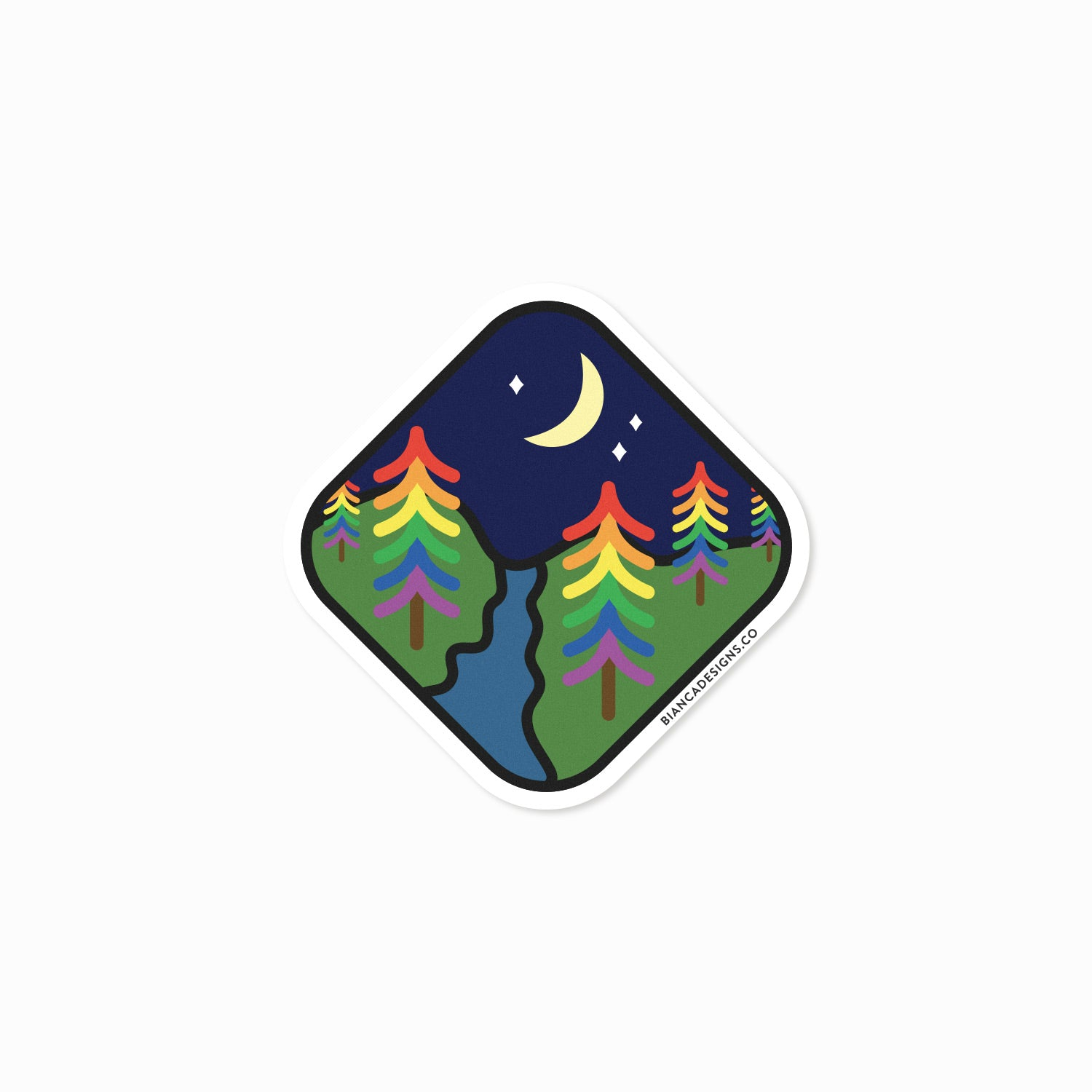 Rainbow Forest Sticker
