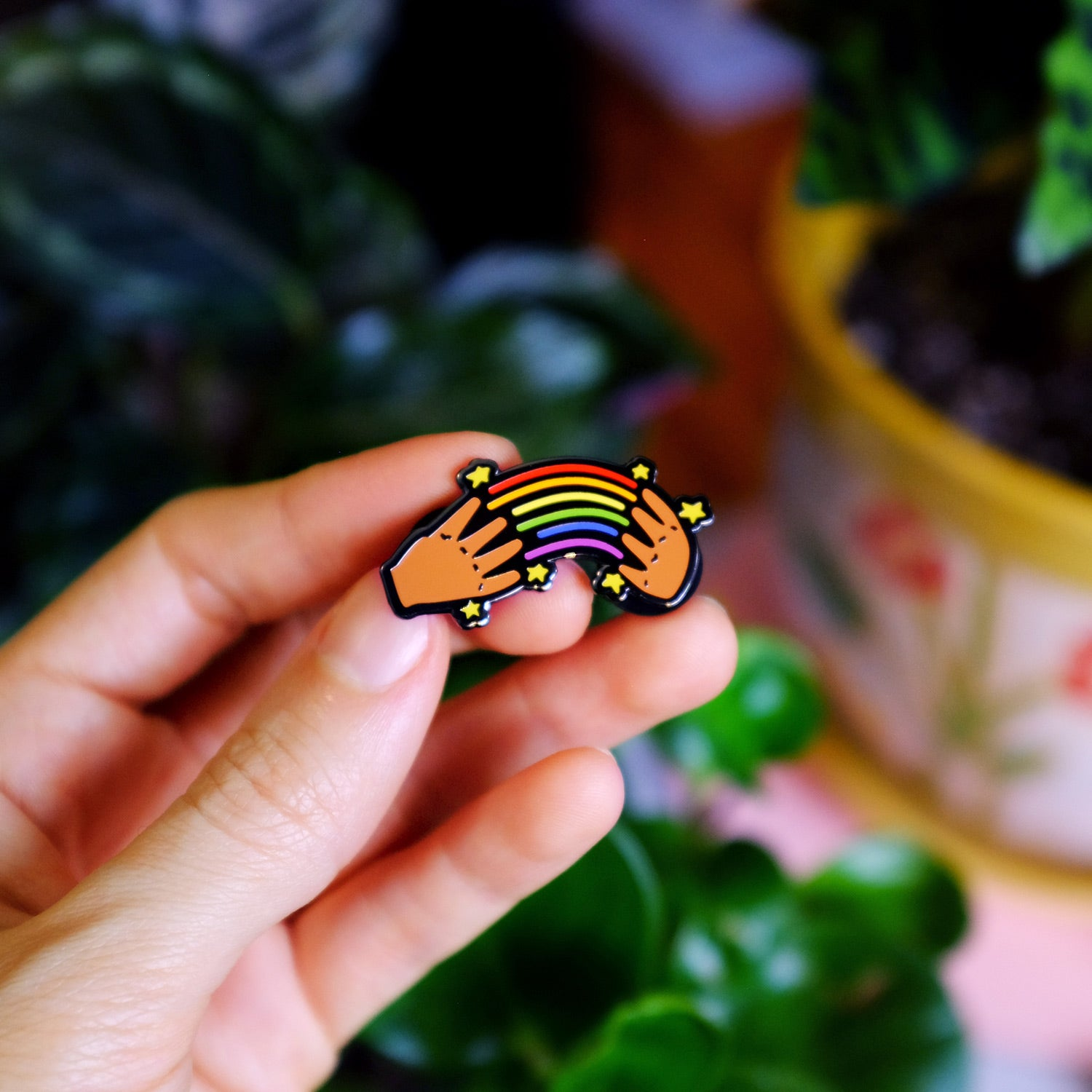 Rainbow in ASL Pin