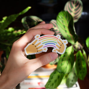 Rainbow in ASL Sticker