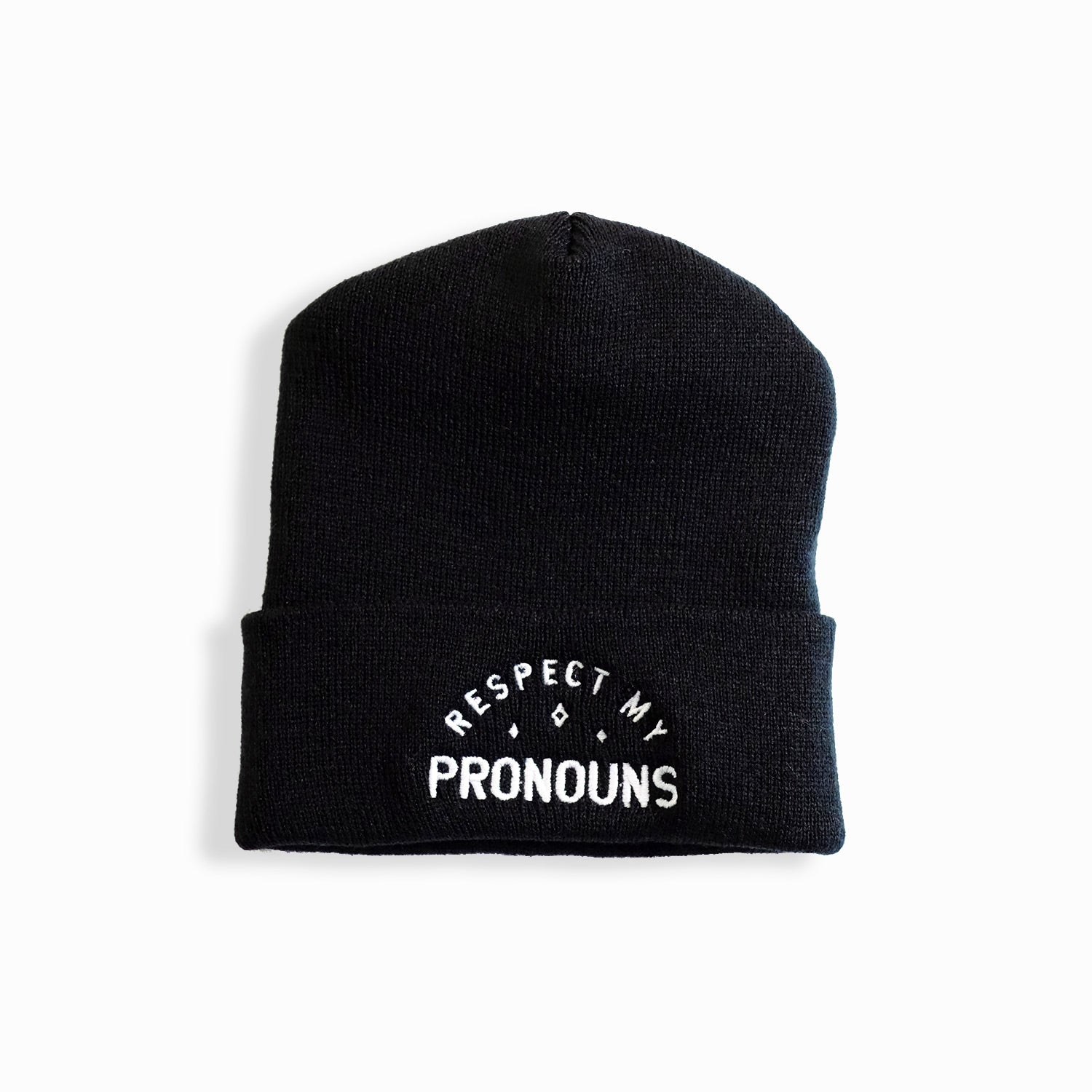 Respect My Pronouns Cuffed Beanie