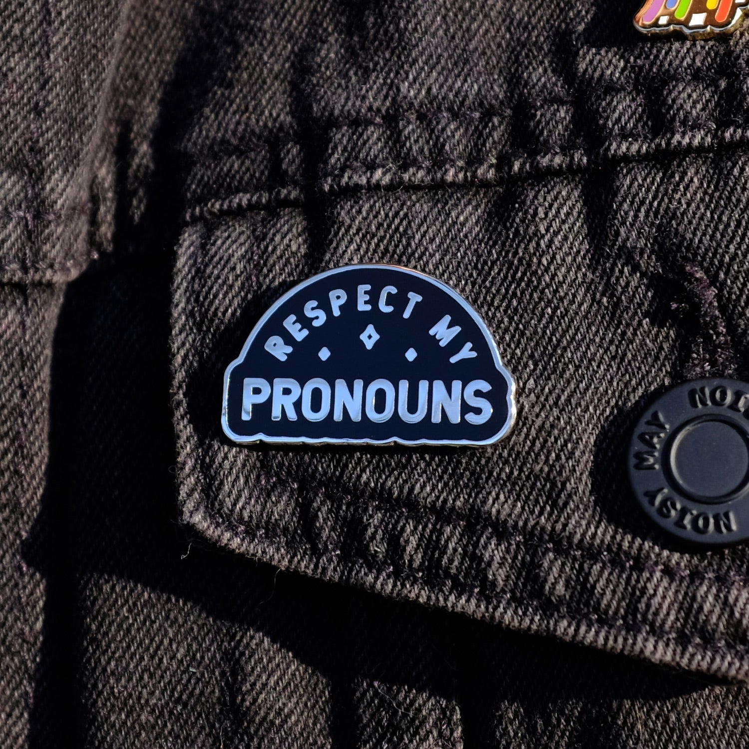 Respect My Pronouns Pin