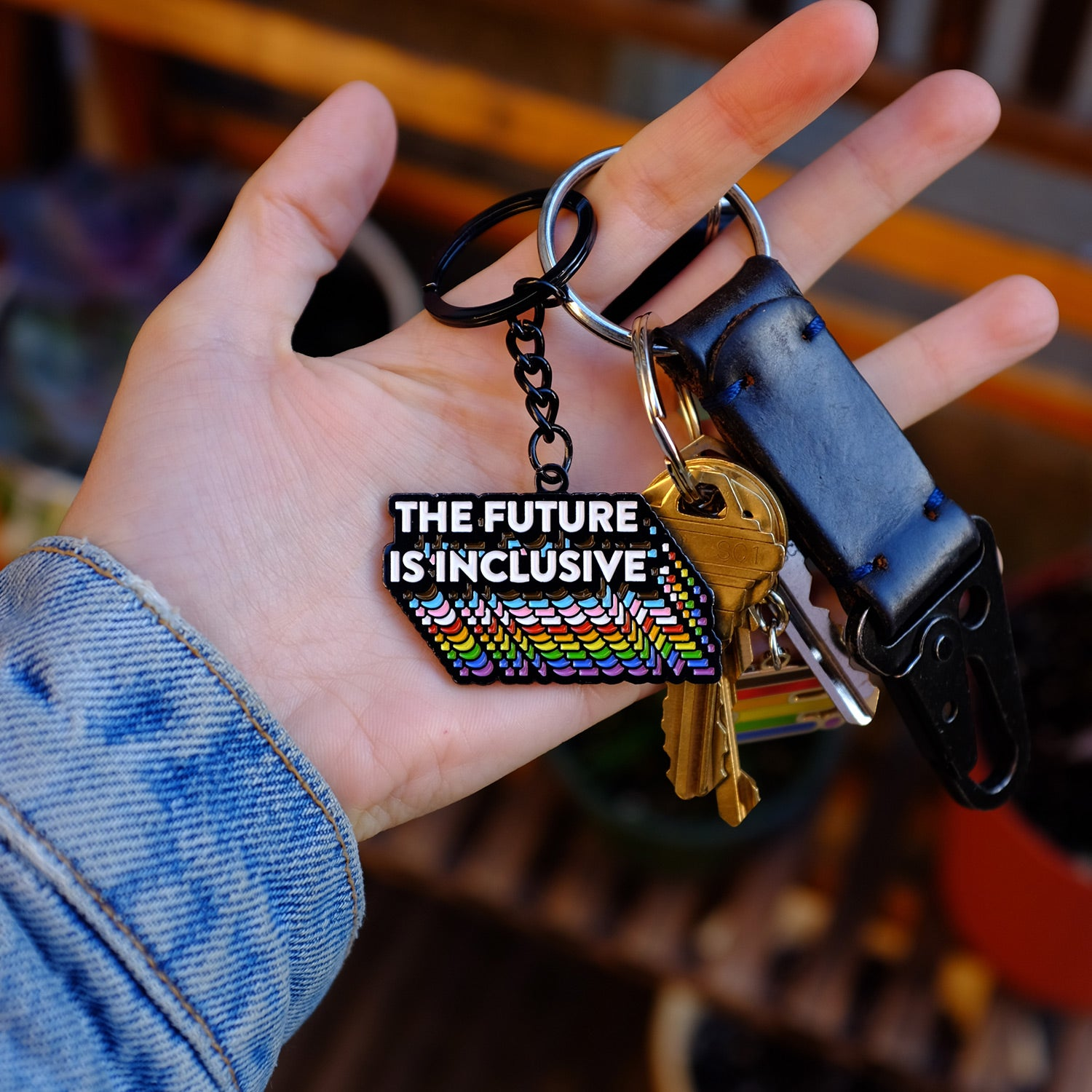 The Future Is Inclusive Keychain