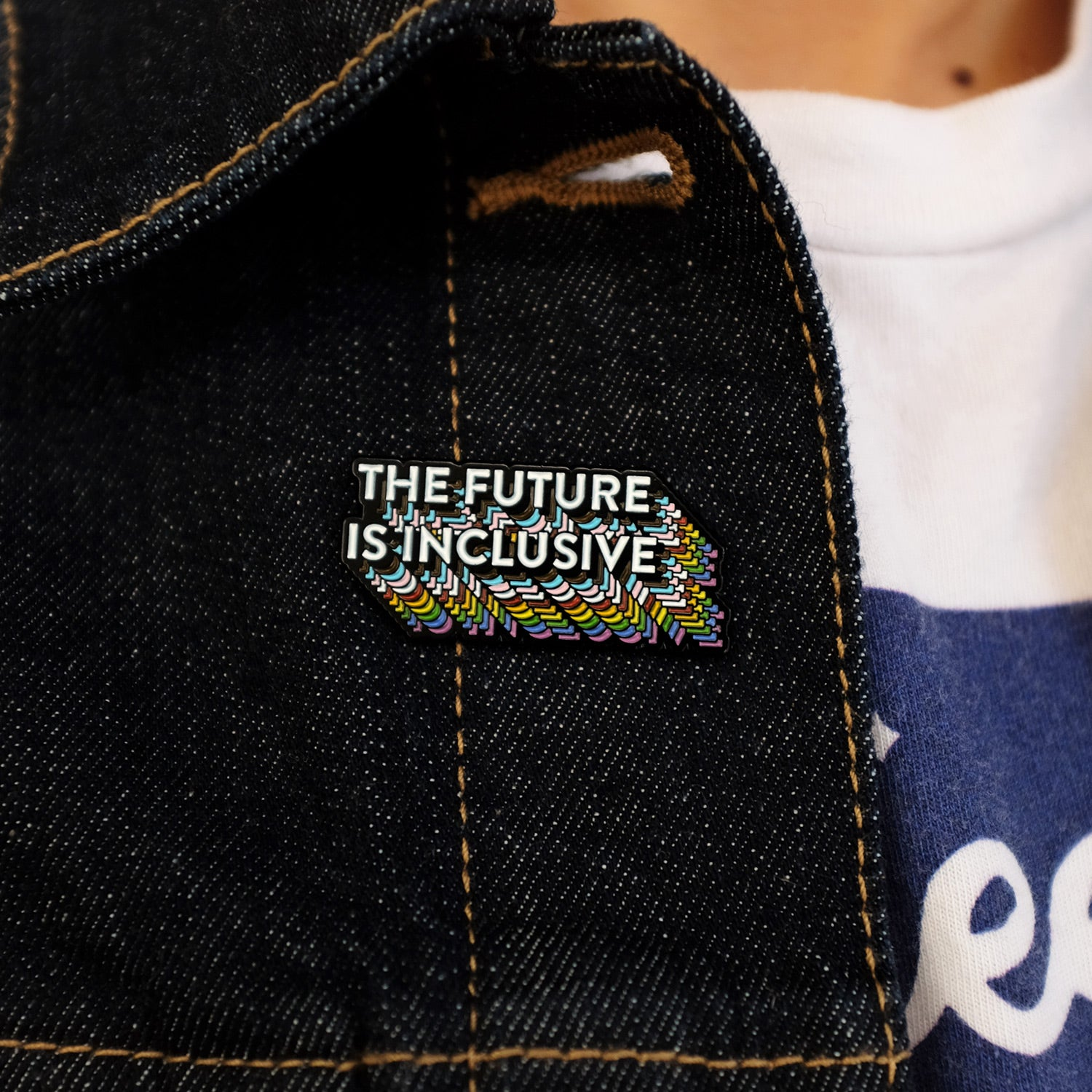 The Future Is Inclusive Rainbow Pin
