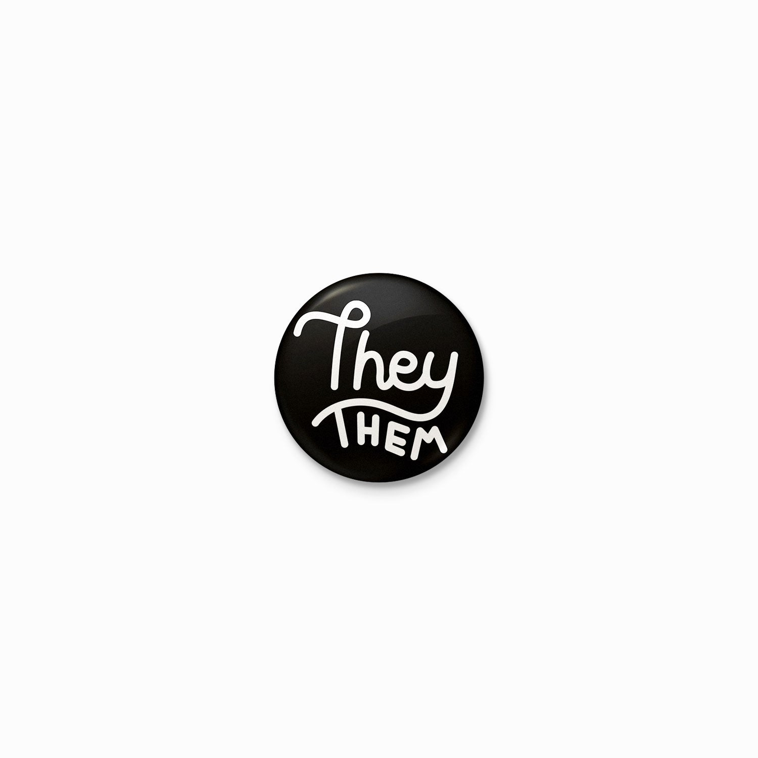 They/them Pronouns Button