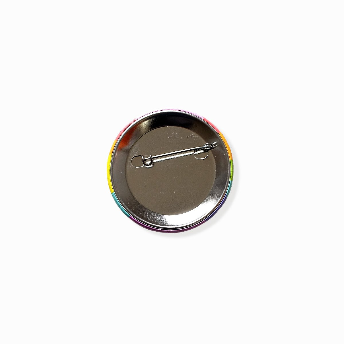 Very Queer Button (Rainbow)