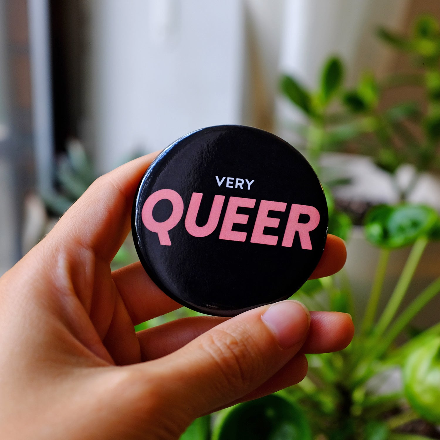 Very Queer Button (Black)