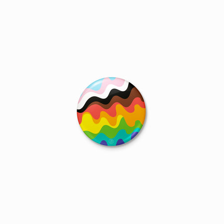 Wavy Inclusive Pride Rainbow Button
