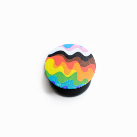 Wavy Inclusive Pride Rainbow Phone Grip