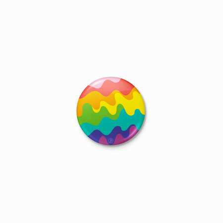 Wavy Original LGBTQ+ Pride Rainbow Button