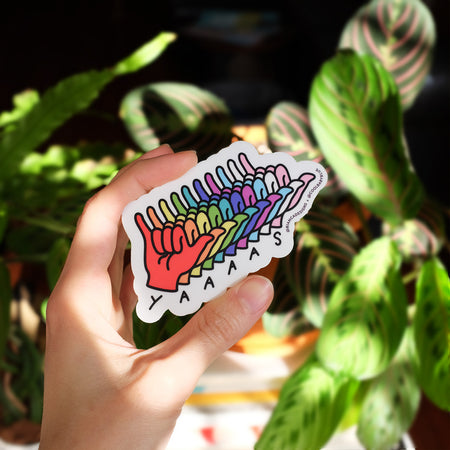 Yaaas Hand ASL Sticker