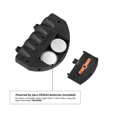 Image of Clip-On 5 LED Headlamp - giftsgadgetsandgizmos.com