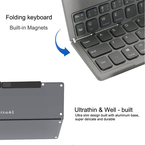 Mini Foldable Keyboard - giftsgadgetsandgizmos.com